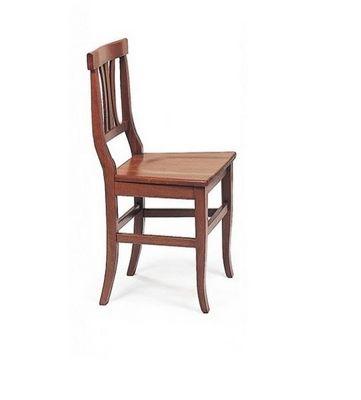 WHITE LABEL - Chaise-WHITE LABEL-Chaise VECCHIO VANETO design noyer assise en bois