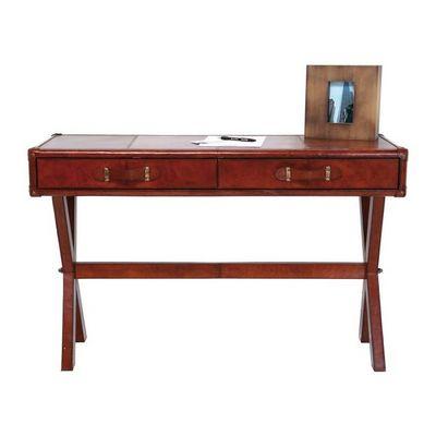 Kare Design - Bureau-Kare Design-Bureau en cuir Console Lodge 120x46 cm