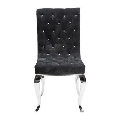 Kare Design - Chaise-Kare Design-Chaise en velours Bijou Steel