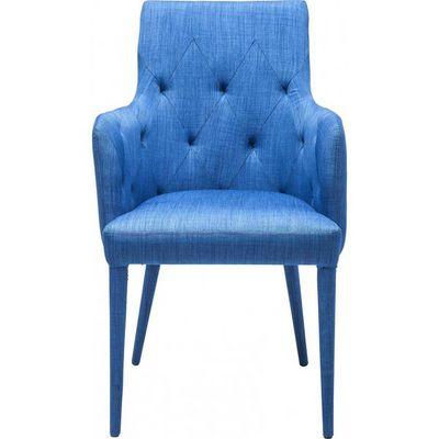 Kare Design - Chaise-Kare Design-Chaise avec accoudoirs Gamble bleue