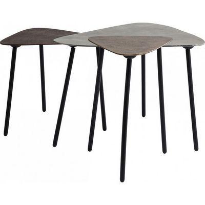 Kare Design - Table basse forme originale-Kare Design-Table basse gigogne Loft Triangle Vintage 3/set