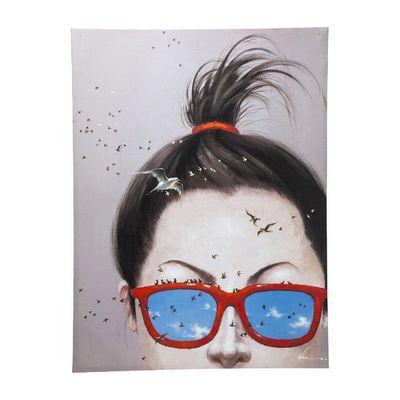 Kare Design - Tableau décoratif-Kare Design-Tableau Touched Lady with Birds 160x120