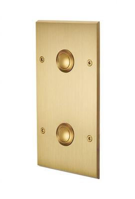 MODELEC - Interrupteur double-MODELEC-Interrupteur façade double verticale à push - Champagne satiné