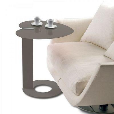 WHITE LABEL - Bout de canapé-WHITE LABEL-Bout de canapé COEUR coloris chocolat