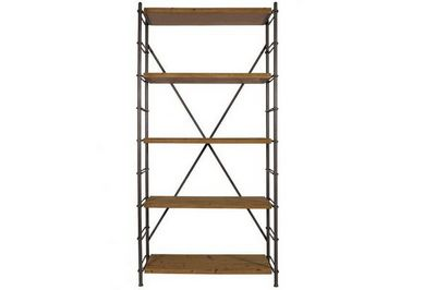 WHITE LABEL - Etagère-WHITE LABEL-DUTCHBONE Bibliothèque IRON SHELF esprit vintage