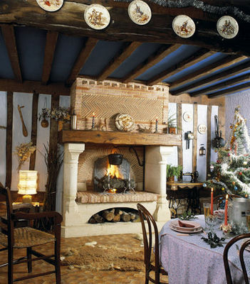 Jean Magnan Cheminees - Chemin�e � foyer ouvert-Jean Magnan Cheminees-Villers