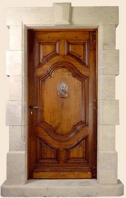 Ebenisterie D'art Bertoli - Porte d'entrée pleine-Ebenisterie D'art Bertoli-ROUSSILLON