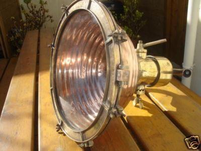 La Timonerie Antiquités marine - Phare-La Timonerie Antiquités marine-trés grand phare ou projecteur pour loft piscine 60 cm