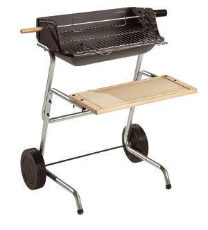 INVICTA - Barbecue au charbon-INVICTA-Barbecue grill Panama en Fonte et Bois 66x76x90cm
