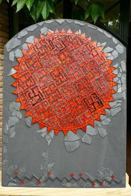 MOSAICOCO - Tableau contemporain-MOSAICOCO-labyrinthe ardent