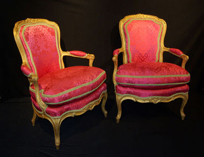 Philippe Vichot - Fauteuil cabriolet-Philippe Vichot-Paire de fauteuils en cabriolet d?�poque