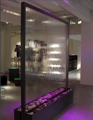 SDECO INTERIORS - Mur d'eau-SDECO INTERIORS-Stainless steel waterfall