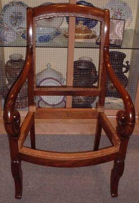 Antiquités La Botte Dorée - Fauteuil à crosse-Antiquités La Botte Dorée-fauteuil crosse