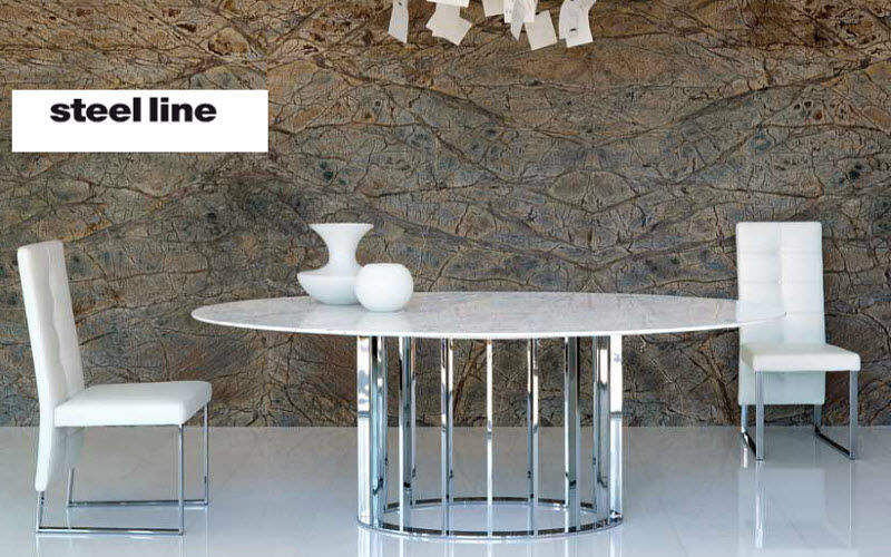 STEEL LINE Oval dining table Dining tables Tables and Misc. Dining room | Design Contemporary