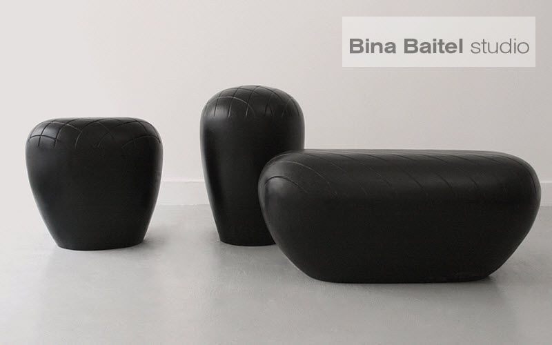 BINA BAITEL Studio Stool Footstools and poufs Seats & Sofas Living room-Bar | Eclectic