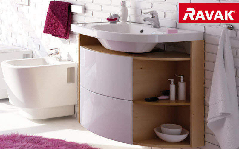 Under basin unit bathroom furniture decofinder - Meuble gain de place salle de bain ...