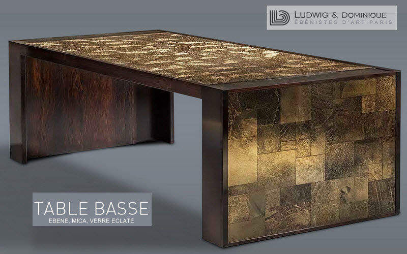 LUDWIG ET DOMINIQUE Rectangular coffee table Low tables Tables and Misc.   