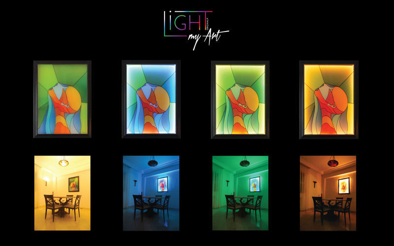 LIGHT MY ART Contemporary painting Paintings Art and Ornaments  |