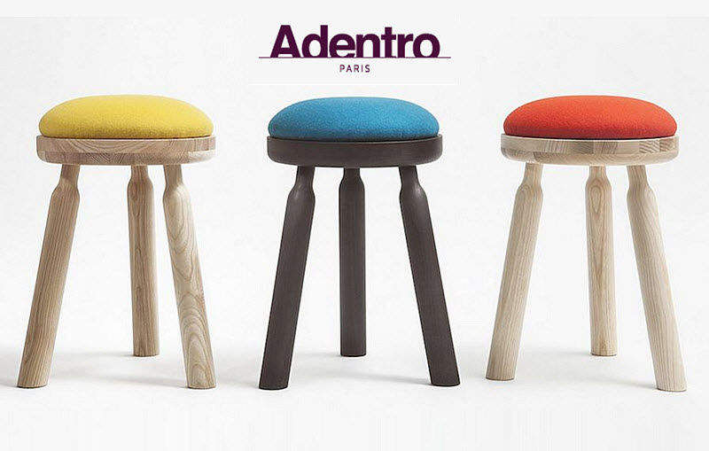 Adentro Stool Footstools and poufs Seats & Sofas  |