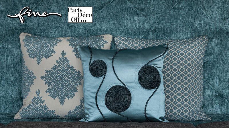 FINE Square Cushion Pillows & pillow-cases Household Linen  |