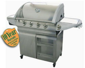 Gas fired barbecue