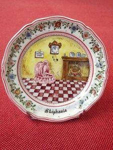 Ceramique Regnier Christening plate