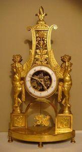 GALERIE DES VICTOIRES - lyre - Skeleton Clock