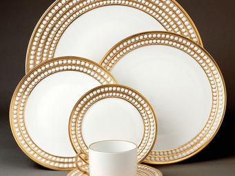 L'OBJET - perlée gold dinnerware - Dinner Plate