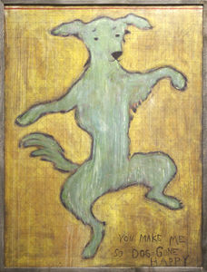 Sugarboo Designs - art print - dancing dog (oversized) - Decorative Painting