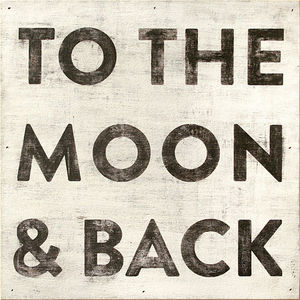 Sugarboo Designs - art print - to the moon and back 36 x 36 - Decorative Painting