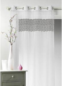 HOMEMAISON.COM - voilage en étamine avec parement macramé - Net Curtain