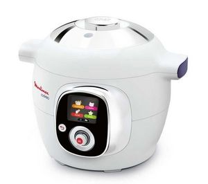 Moulinex - multicuiseur cookeo ce701100 - blanc/chrome - Pressure Cooker