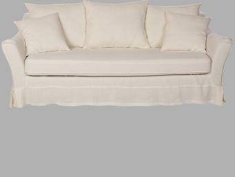 BLANC D'IVOIRE - balthus ecru - 3 Seater Sofa