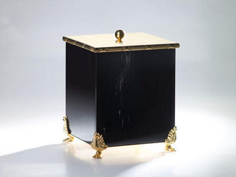 Cristal Et Bronze - obsidienne - Bathroom Dustbin