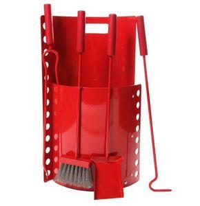 Ruecab - bombé haut rouge - Fireplace Set