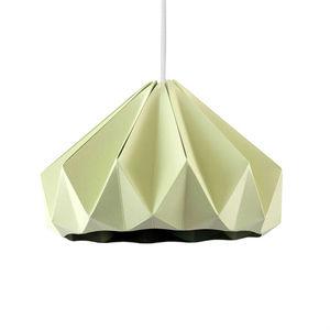 SNOWPUPPE - chestnut - suspension papier vert pastel ø28cm | s - Hanging Lamp