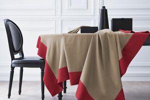BLANC CERISE - delices de lin sable-rougebasque - Rectangular Tablecloth