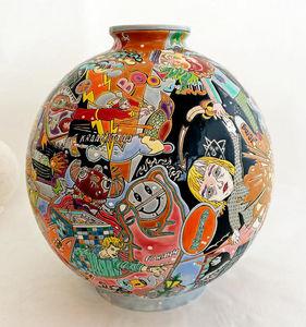 Emaux De Longwy -  - Decorative Vase
