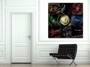 CARS AND ROSES -  - Contemporary Painting