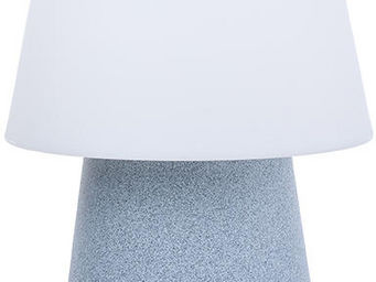 8 Seasons Design - lampe design changement couleur led gris pierre - Table Lamp