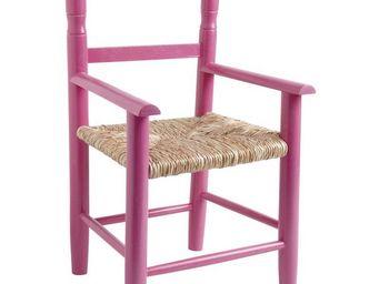 Aubry-Gaspard - fauteuil enfant en bois de hêtre framboise - Armchair