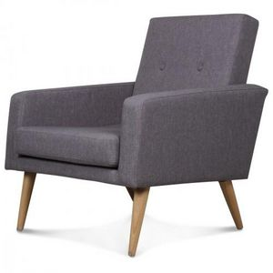 Demeure et Jardin - fauteuil design scandinave moderne gris souris fit - Armchair