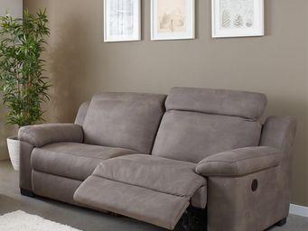 WHITE LABEL - canapé 3p relax électrique - nerb - l 200 x l 100 - 2 Seater Sofa