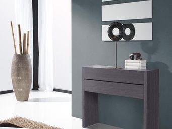 WHITE LABEL - meuble d\'entrée cendre + miroirs - nosila - l 87 -