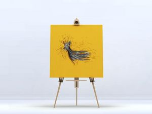la Magie dans l'Image - toile chevreuil orange - Digital Wall Coverings