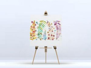 la Magie dans l'Image - toile feuilles - Digital Wall Coverings
