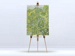 la Magie dans l'Image - toile hibiscus et roses - Digital Wall Coverings