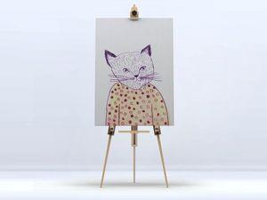 la Magie dans l'Image - toile mon petit chat - Digital Wall Coverings