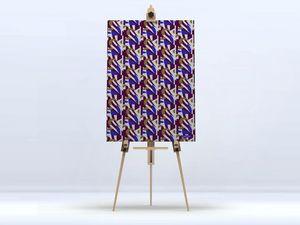 la Magie dans l'Image - toile pétales prune - Digital Wall Coverings