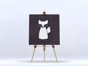 la Magie dans l'Image - toile renard blanc - Digital Wall Coverings